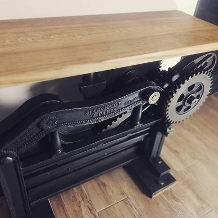 vintage console entrée unique esprit steel savoie