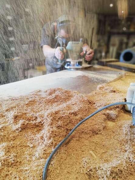 le travail du bois esprit steel artisan savoie